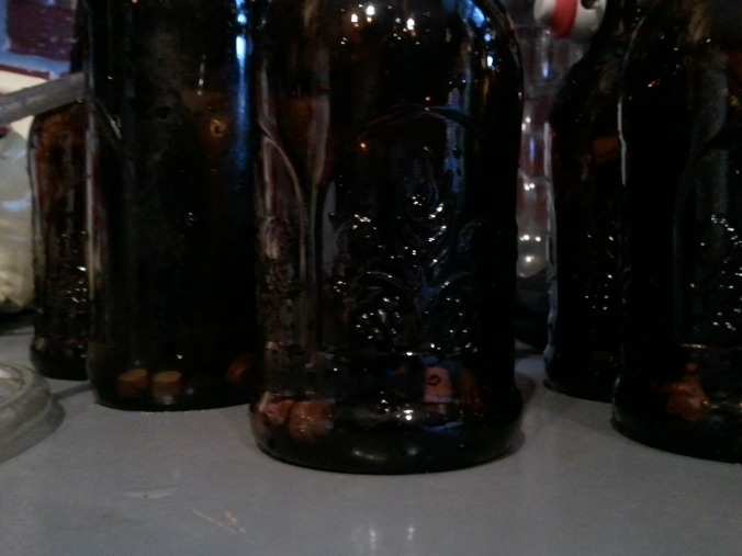 I used four, which according to the package, would have produced medium carbonation in a 12 ounce bottle. Here it should be light-medium.